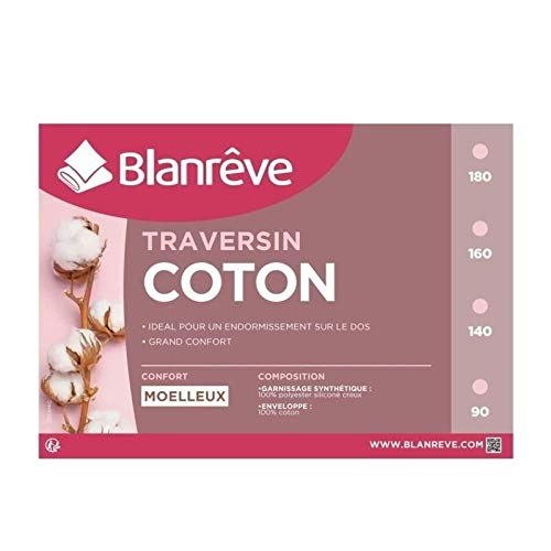 Blanreve Traversin en Coton - 140 cm - Blanc