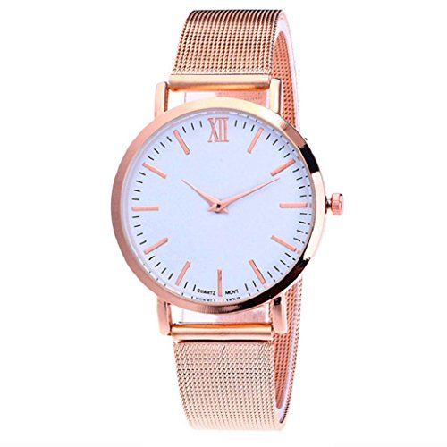 Quartz Wrist Watch,Hosamtel Delicate Business Alloy Analog Watch for Couple Lovers (Rose Gold)