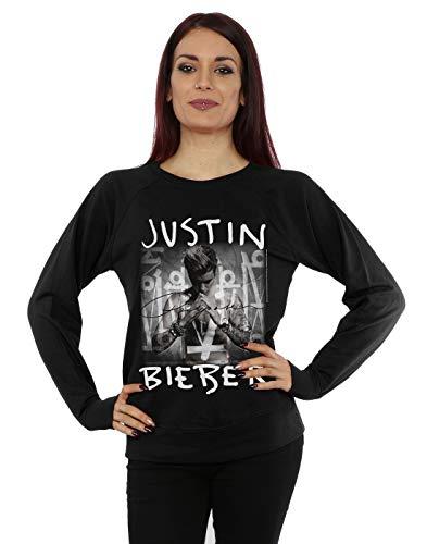 Justin Bieber Damen Purpose Album Cover Sweatshirt Small Schwarz