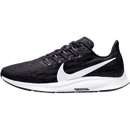 Nike Wmns Nike Air Zoom Pegasus 36, Women's Track & Field Shoes, Multicolour (Black/White/Thunder Grey 4), 9 UK (44 EU)