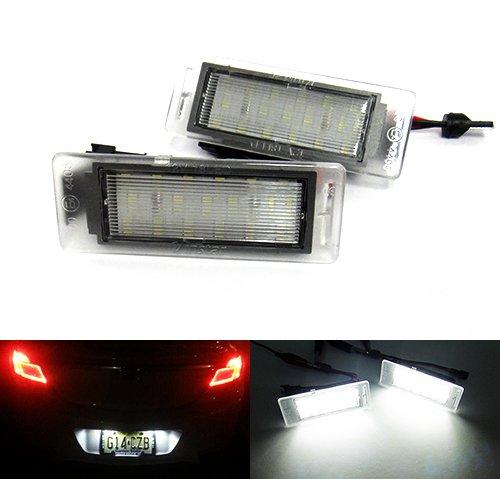 2x Weiße LED Kennzeichenbeleuchtung Insignia Sports Tourer VXR8