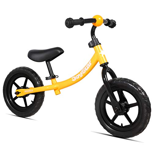 JOYSTAR Balance Bike for 1 2 3 4 5 Years Boys & Girls, Neutral Toddler Push Bike for Infant, 12 inch Kids Glider Bike, Children Slider Cycle, Orange