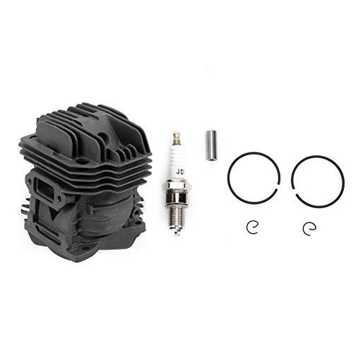 Conjunto de pistón de aluminio de cilindro, cilindro de motosierra, resistencia al desgaste, Diámetro del pistón 40 mm, para motosierra de gasolina MS201