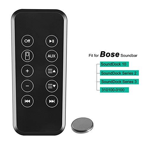 YUHUA ELE Reemplazo Mando a Distancia para Bose Sounddock 10 Barra de Sonido, Serie II III 2 3 Soundbar, Control Remoto de Repuesto, Home Cinema Accesorios para Altavoces