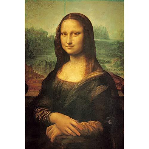JW-MZPT World Famous Pittura Gioconda per Adulti 500, 1000, 2000, 4000 Pezzi di Un Puzzle in Legno Famoso Pittore educativo decompressione Giocattolo,1000pieces