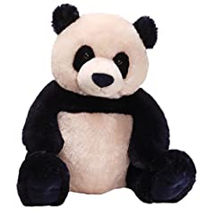 Panda plush with unique dark navy and cream color pattern Soft, huggable material built to famous GUND quality standards Surface-washable Ages 1+ 17 inch height (43 cm)