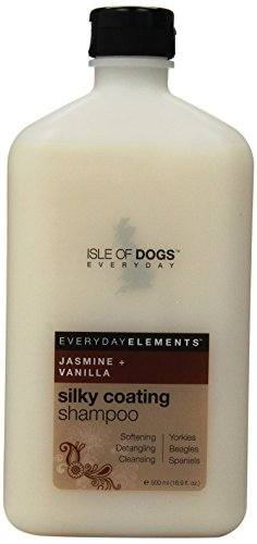Everyday Isle of Dogs Silky Coating Dog Shampoo for Yorkies,Beagles and Spaniels (16.9 oz/Jasmine...