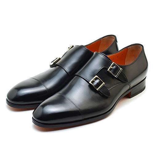 [サントーニ] MCCR 15006 BA1IOBSN01 ブラック モンクストラップ ビジネスシューズ ドレスシューズ 靴 メン...
