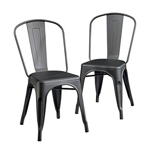 Sauder New Grange Metcafe Chairs, Matte Black finish