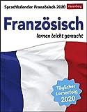 Sprachkalender - Französisch lernen leicht gemacht - Kalender 2020 - Harenberg-Verlag - Tagesabreißkalender - 12,5 cm x 16 cm