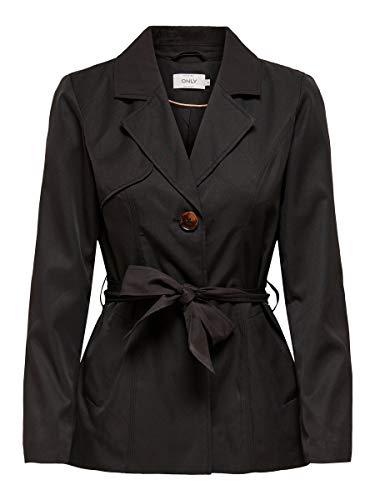 ONLY Damen ONLWINNIE CC OTW Trenchcoat, Black, M