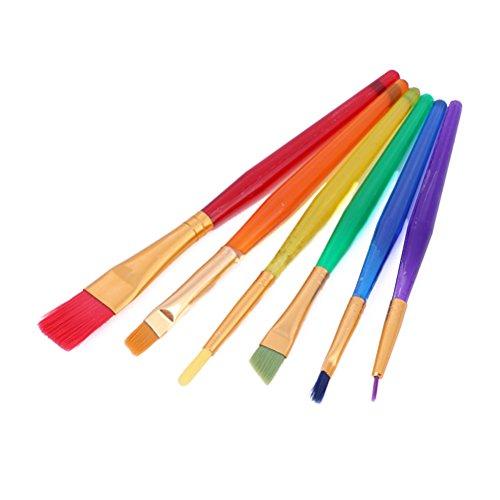 Toyvian Juego de Pinceles de Pintura para niños, 6 Piezas Conjunto de Herramientas de Pintura artística para niños Principiantes (Colorido)