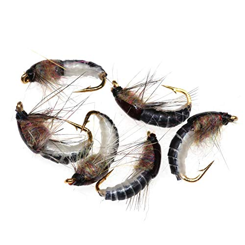 Realistic Nymph Scud Flies for Trout Fly Fishing Super Sturdy Hooks