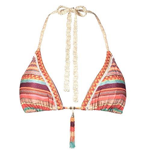Watercult Damen Bikinioberteil Souvenir Stripe Tasseled (Spice Market, 38)