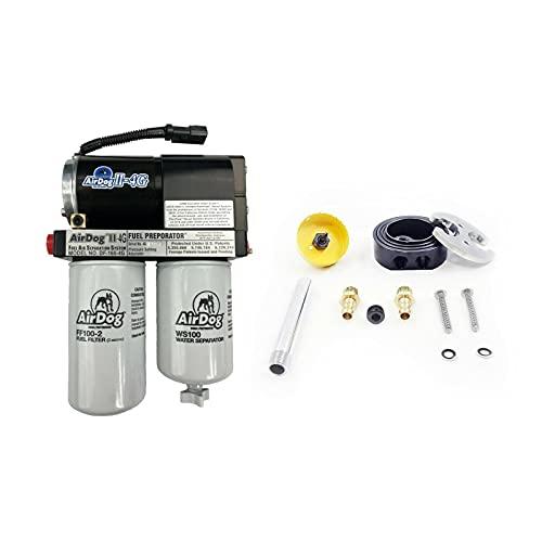 AirDog II-4G 165 GPH Air/Fuel Separation Lift Pump A6SABC409 & Dual Port Integrated Return Sump Compatible with 2001-2010 Chevy/GMC 6.6 LB7/LLY/LBZ/LMM Duramax Diesel