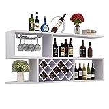 Stylish Simplicity - Estantería de pared para vino, diseño de ratón