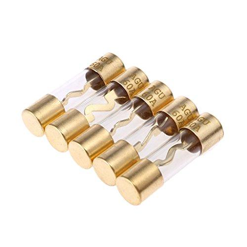 Haia7 K4 k AGU fusibles Lot, 5 pcs Plaqué Or Verre fusible pour Voiture Amp amplificateur