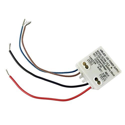 VBLED®, alimentatore LED Driver da 6 W, 12 V CC, con spettro di potenza 0,5-6 W, per trasformatori da ambienti interni da 230 V a 12 V, ottimizzato per LED