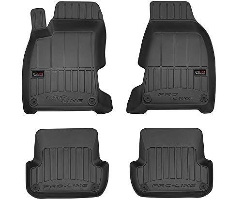 Frogum Alfombrillas de Goma 3D Pro-Line compatible con Audi A4 B6 B7 2001-2008 / compatible con Seat Exeo 2008-2013