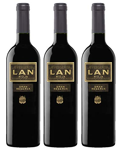 Vino Tinto LAN Gran Reserva (D.O.Ca.Rioja) - 3 botellas de 750 ml - Total: 2250 ml