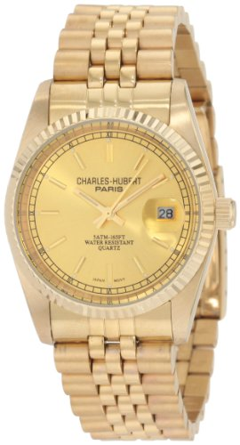Charles-Hubert, Paris Uomo 3635-GY Premium Collection Gold-Plated Stainless Steel Orologio