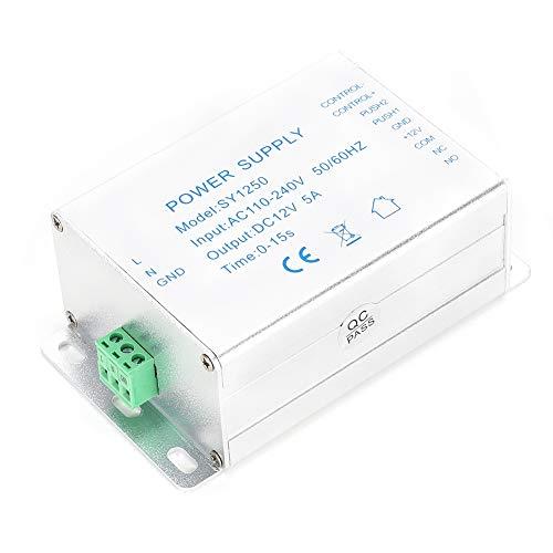 Demeras Zutrittskontrollnetzteil, AC110-240V Türnetzteil Reduzieren potenzielle Gefahren für Elektroschlösser für Türzugangskontrollsysteme für Gebäude-Gegensprechanlagen