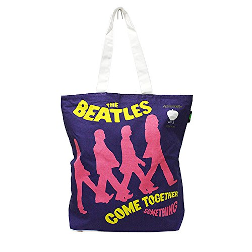 The Beatles Cotton Tote Bag with Zip Top (Come Together)