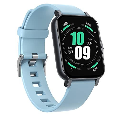 sZeao Smartwatch Rastreadores De Ejercicios Rastreadores De Actividad Hombres Reloj Deportivo Mujeres Reloj Inteligente Impermeable IP68 Compatible con Android iOS,G