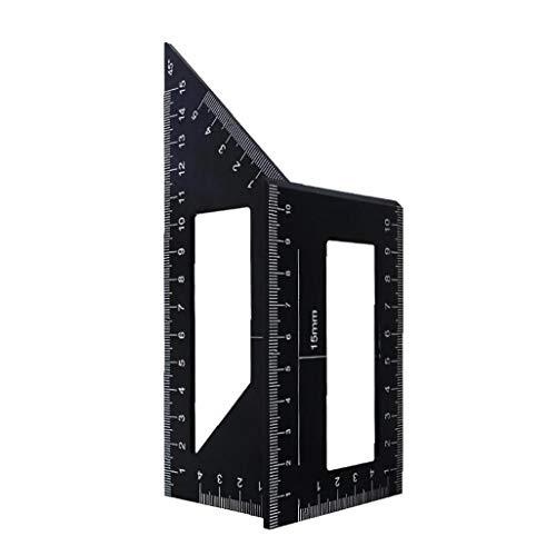 Aiyrchin Holzbearbeitungs Measure Ruler Platz Winkel Lineal-Werkzeug Carpenter Platz für Ingenieure Tischler