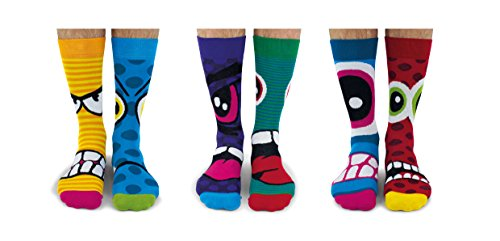 United Oddsocks Herren Socken Stress Heads, 6 Stück, EUR 39 - 46