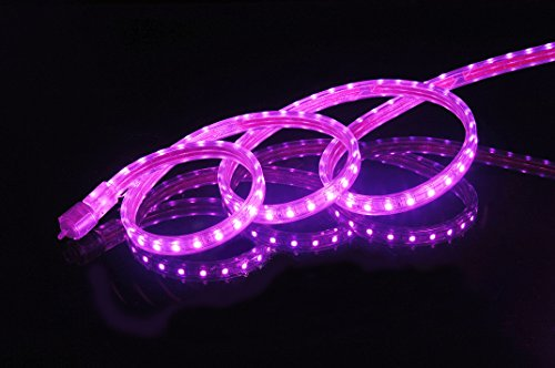 CBConcept UL Listed, 3.3 Feet, Super Bright 900 Lumen, Pink, Dimmable, 110-120V AC Flexible Flat LED Strip Rope Light, Commercial Grade, Indoor Outdoor use, Ready to plug n shine