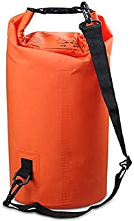 FFX Outdoor Waterproof Double Shoulder Bag Dry Sack PVC Barrel Bag, Capacity: 20L (Black) Outdoor Bags (Color : Orange)