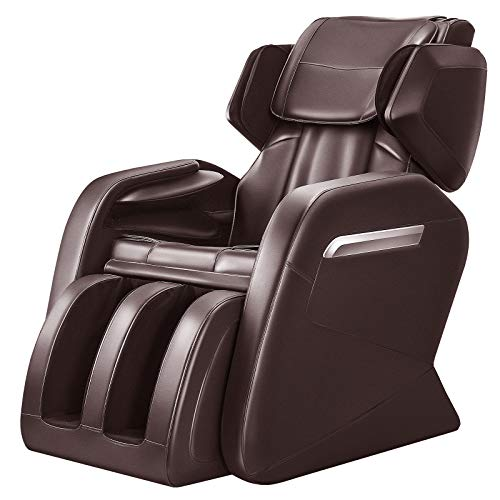 OOTORI Full Body Massage Chair, Zero Gravity & Air Massage Foot Roller Shiatsu Recliner, with Heater and Vibrating Brown