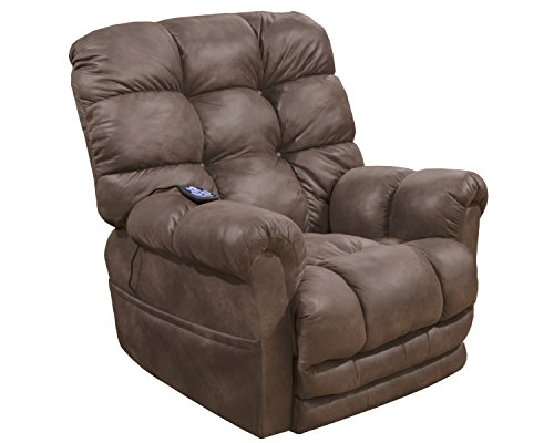 Catnapper Power Lift Recliner with Extended Ottoman in Dusk Finish