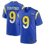 TGFH Camiseta de fútbol americano al aire libre Camisetas Matthew Los Ángeles NO.9 Royal, Rams Stafford Game Jersey