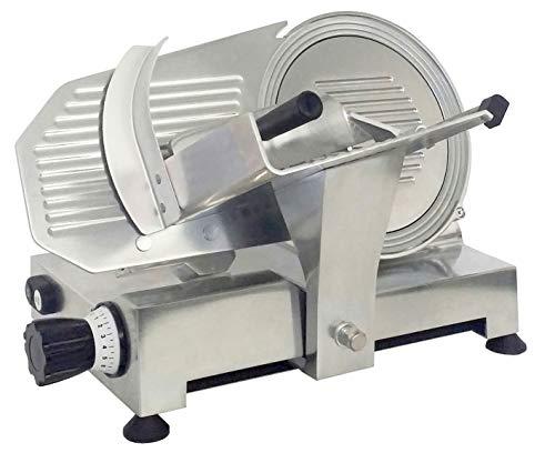 Affettatrice Professionale Diametro 250 mm in Acciaio, corpo in alluminio pressofuso brillantato