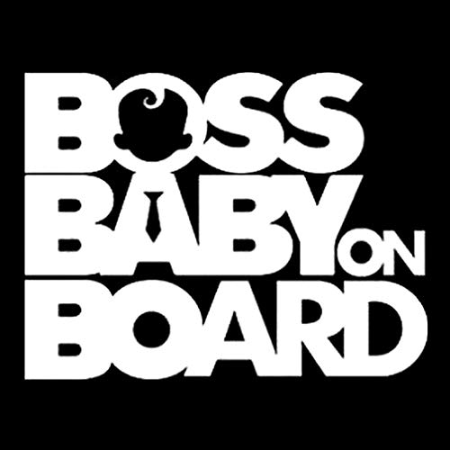 bismarckber Auto-Aufkleber, Boss Baby On Board Fahrzeugkarosserie, reflektierender Aufkleber fürs Auto