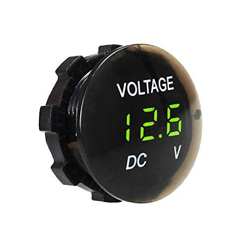 IWILCS LED Digitale Display Voltmeter, Waterdichte Voltage Meter, Universele Mini Ronde Panel Voltmeter, voor DC 12V-24V Auto Voertuig Motorfiets Auto Truck Boot Marine