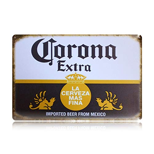 PEI 's Retro Vintage Blechschild, Corona Beer aus Mexiko, Home Bar Man Cave Decor, 20 x 30 cm