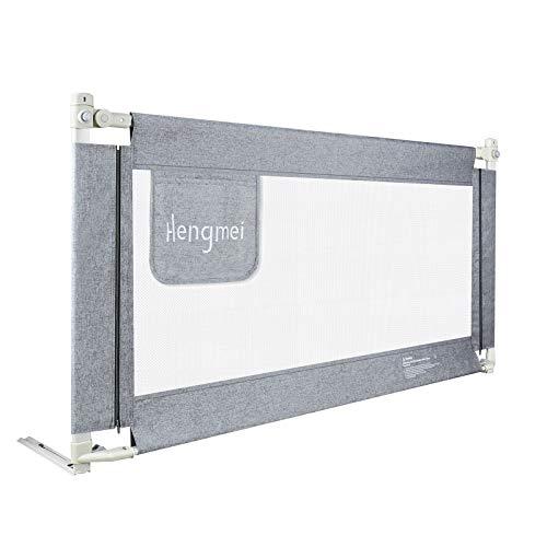 HENGMEI Barrera protectora para cama infantil, 200 cm, protección anticaídas, altura regulable para bebés y niños