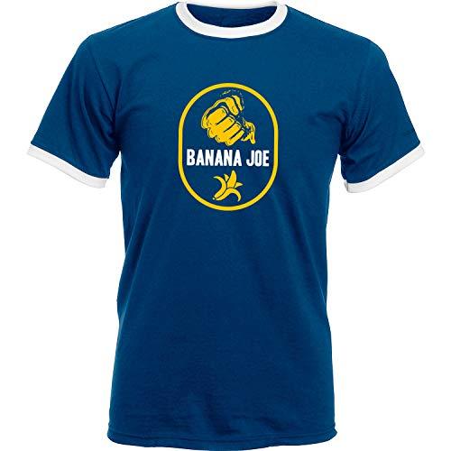Banana Joe Original Premium Soccer Kontrast Shirt #1 Navyblau/Weiss M
