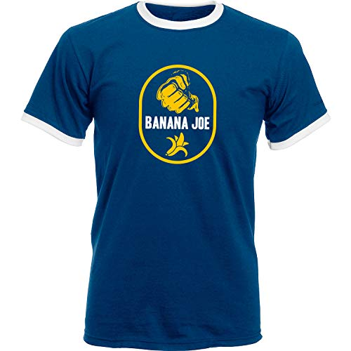 Banana Joe Original Premium Soccer Kontrast Shirt #1 Navyblau/Weiss 3XL