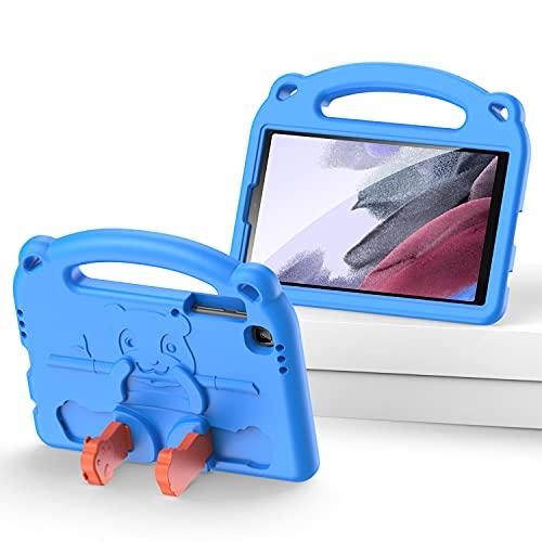 Funda para Niños para Galaxy Tab A7 Lite De 8.7 Pulgadas, Diseño De Dibujos Animados De Panda Lindo A Prueba De Golpes, Funda Para Soporte, Ligera, Para Niños, Para Tab A7 Lite 8.7 (T220 / T225),Azul