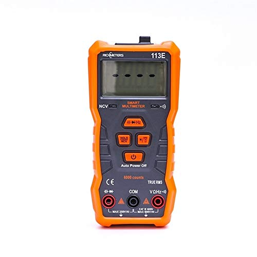 Multímetro digital RM113E multímetro digital automático de 6000 cuentas Analogía Bar Iman AC / DC voltaje medidor de continuidad flash de luz de luz de fondo Medición de voltaje, corriente y resistenc