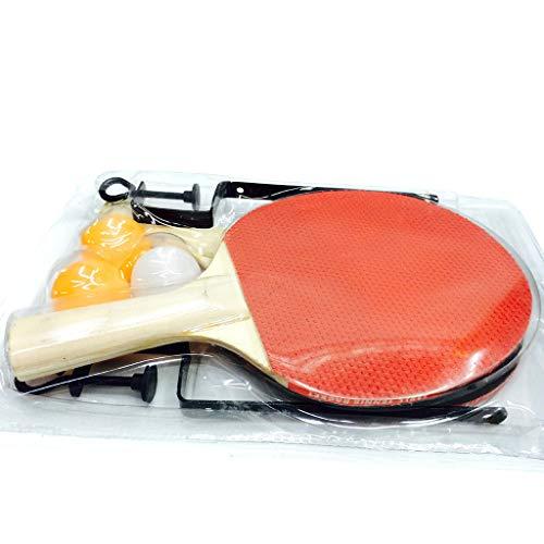 Juego de ping pong de mesa, juego de 2 raquetas profesionales con pelotas de ping pong, 3 pelotas de estrellas y bolsa, para interior y exterior