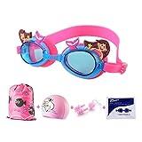 IvyH Schwimmbrillen für Kinder, Schwimmbrille mit Badekappen Nasenklammern und Ohrenstöpselsets...