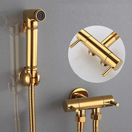 WC bidet Oro Latón individual Baño Aseo Ducha fría Blow-Fed pistola de pulverización de la boquilla grifos bidé grifos de baño de hardware, Estilo 8