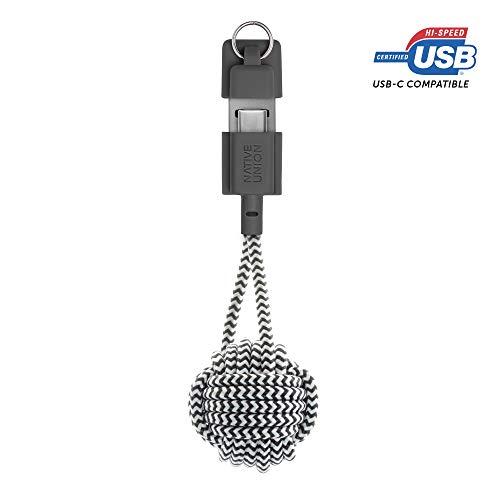 Native Union Key Cable USB-C a USB-A - Ultra-Robusto Reforza