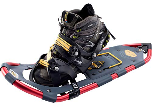 Atlas Snowshoes Company Men's Montane Mountain Hiking Snowshoes, Navy/Red, 25'