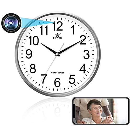 Tuya - Reloj digital inteligente, cámara IP oculta inalámbrica WiFi, 1080P IR visión nocturna, vigilancia de seguridad para bebé, reloj